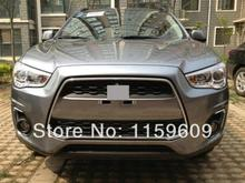 For Mitsubishi ASX Outlander Sport 2013 2014 2015 ABS Chrome Front Grille Frame Cover Trim