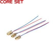 10 pcs Diodo Laser Rosso Point Regolabile Laser del Diodo del Puntino Modulo Rosso Testa di Rame 650nm 6 millimetri 3/5 V 5 mW