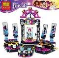 2016 Nueva Original 10406 BELA Amigos Pop Estrella Etapa Ensamblar Juguetes Bloques de Construcción Establece 448 unids Compatible Legoe Amigo Para niñas
