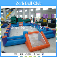 Free Shipping Double Tube Inflatable Football Court,Inflatable Soap Football Field