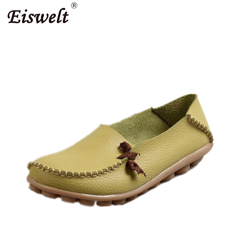 Genuine Leather Women Shoes Fashion Lace up Casual Flat Shoes Peas Non-Slip Outdoor Shoes Plus Size берет