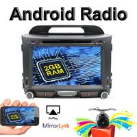 Free Upgrade to Android 9.0! 2 din Android Car DVD For KIA Sportage R with RDS/FM GPS Navigation Mirror Link Rear View Camera