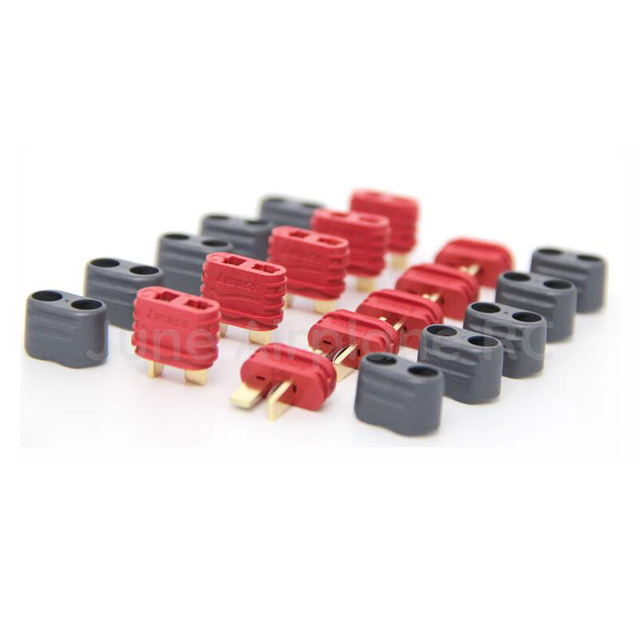 5 Pair T plug Amass Connector With Sheath Housing T shape Connector Plug male female for RC airplane Lipo Battery