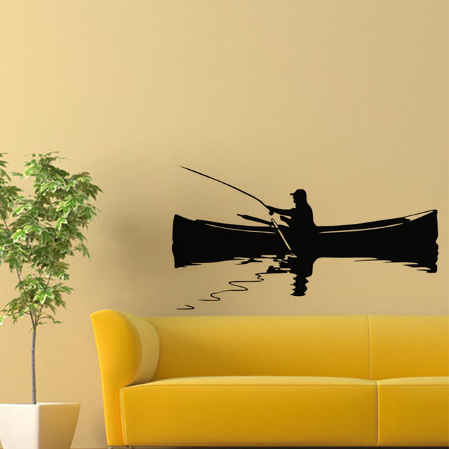 Fishing Boat Wall Stickers Home Decor Sofa Background Wall Decals ...