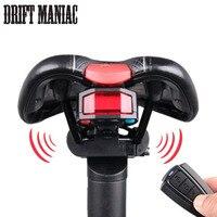 Światło rowerów Z Tyłu + Anti-theft Alarm USB Akumulator Bezprzewodowy Pilot DOPROWADZIŁ Lampy Taillight Rower Finder Latarnia Róg