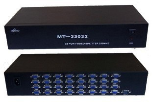 Kvm-switches Computer-peripheriegeräte 32 Port Vga Video Splitter Distributor 350 Mhz 1920*1440 Ddc Kaskadiert 45 Mt 19 Rack-montiert Metall Fall Erfrischung