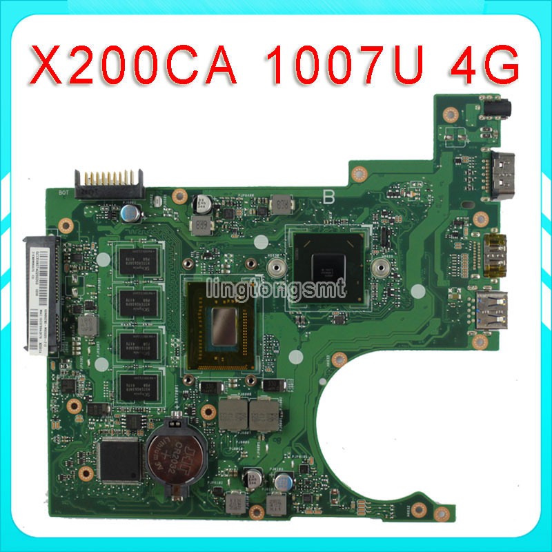 For ASUS X200CA Motherboard REV2.1 With 1007CPU 4G Memory 100% Tested for asus x200ca motherboard with 2117 cpu x200ca rev2 1 system board 100% working