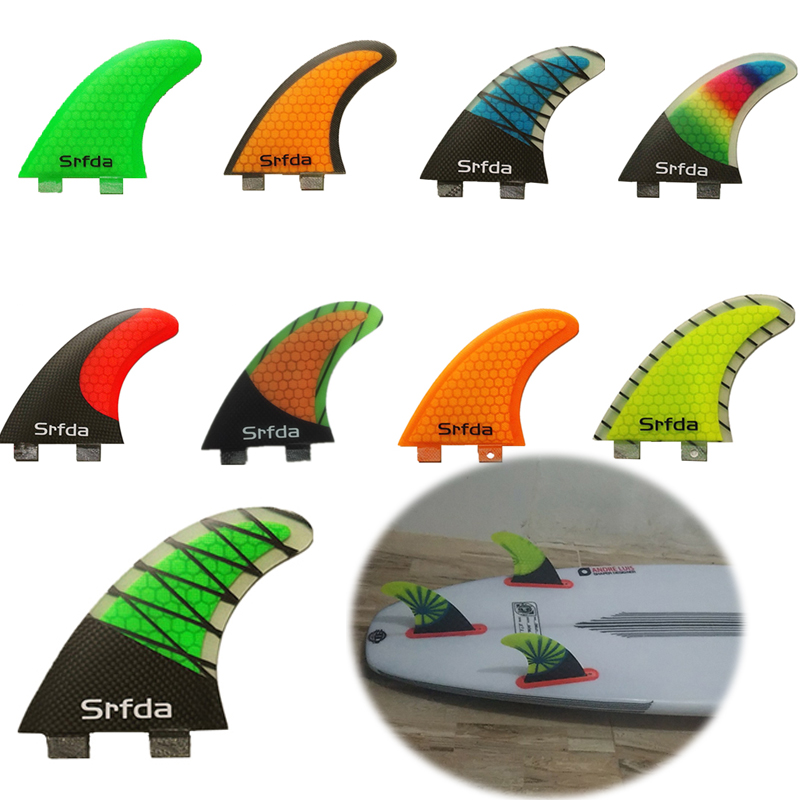 FCS-G5 Surf Fins Surfboard Keels High Quality Honeycomb Fiberglass Tail Surfboard Thrusters Rudder Quilhas Quillas Keels S цена
