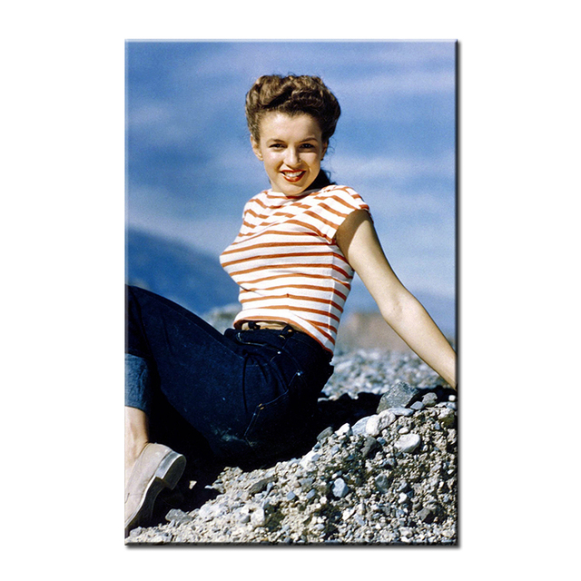36887821c452 marilyn monroe in jeans white and black art Wall painting print on canvas  for home decor ideas paints wall pictures No framed