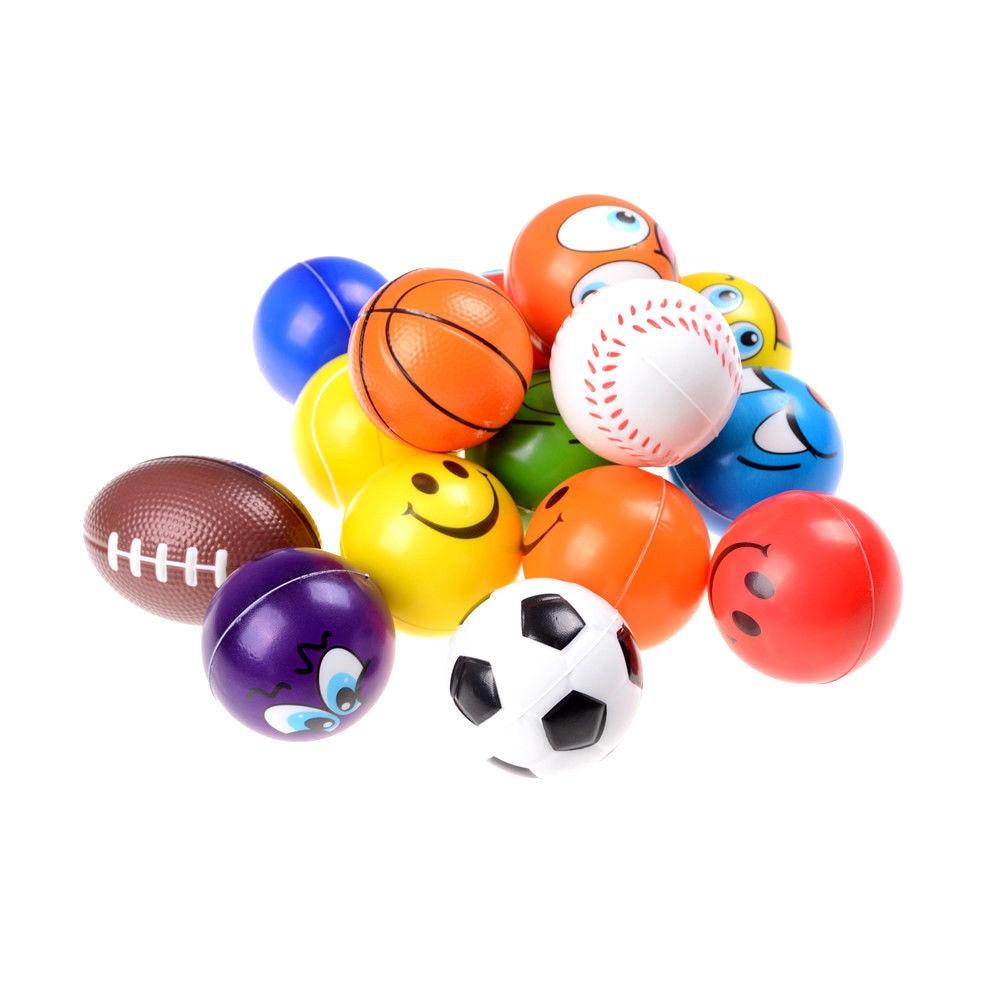 1 Pcs Stress Fidget Hand Relief Squeeze Foam Squish Balls Kids Toy 7cm Reusable Bathing Accessories Consumers First Beauty & Health