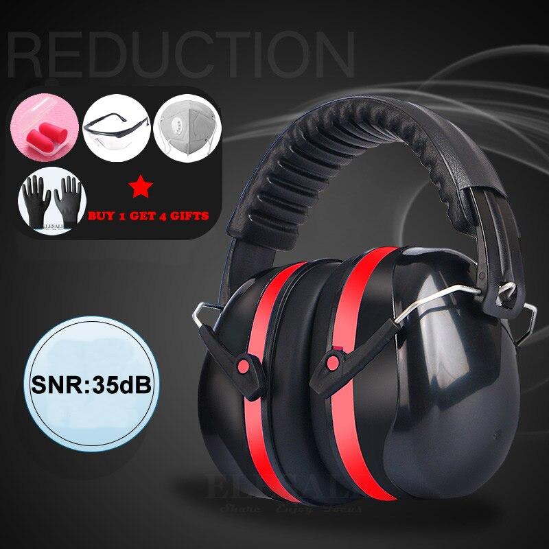 Protector de oreja plegable con orejeras de cabeza Anti ruido SNR-35dB para niños/adultos estudio de trabajo para dormir disparo protección auditiva segura