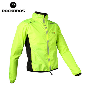 ROCKBROS Cycling Men's Riding Breathable Reflective Jersey MTB Cycle Clothing Long Sleeve Windproof Quick Dry Coat Jacket 6Color