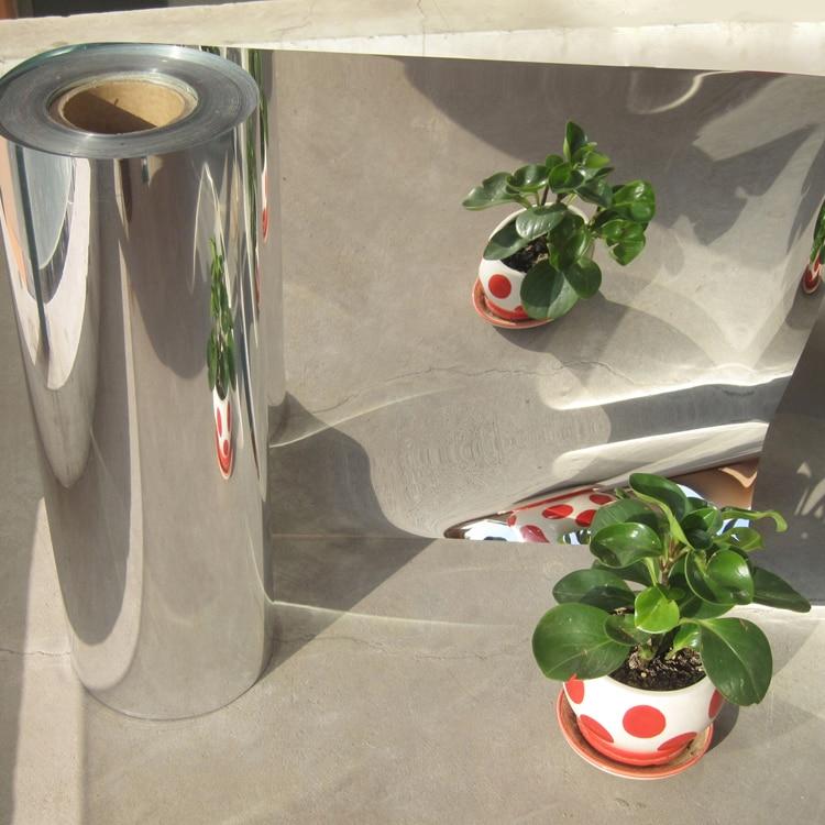 50cm Width Silver Reflective Solar Film Decorative Mirror