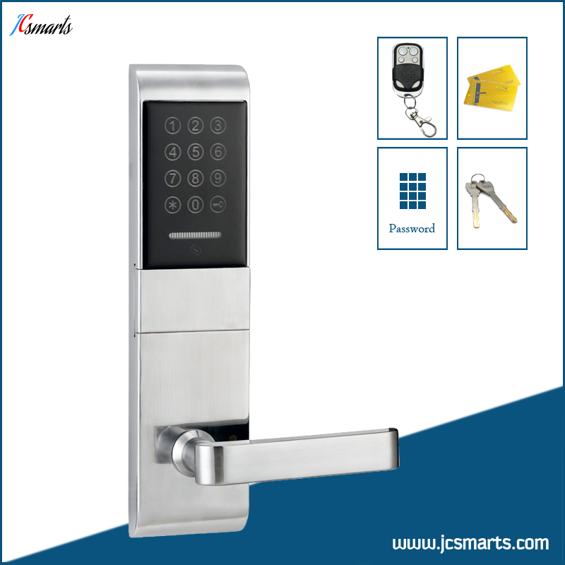 Password door lock electric RF key card lock with remote controller