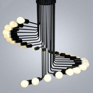 Image 1 - Loft Amerikanischen retro industriellen wind kreative persönlichkeit spirale treppe wohnzimmer kaffee restaurant bar bar eisen kronleuchter