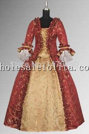Custom Made 17th Century Red & Gold Baroque Renaissance