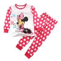 Baby Boys Girls Kids Clothing Sets Cartoon Mouse Suits 2 Pcs Sleepwear Long Sleeve Cartoon Pajamas