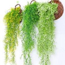 1 pieza de flores de plástico largas rastra Artificial de seda falsa flor vid colgante guirnalda planta hogar jardín boda decoración