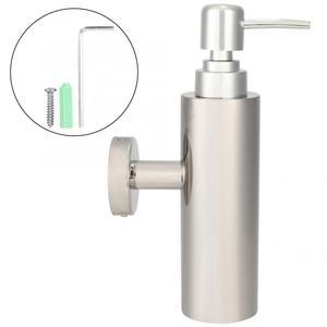 Image 4 - الفولاذ المقاوم للصدأ اليد السائل غسول الصابون المطهر زجاجة مضخة للمنزل الحمام الحائط السائل الصابون Dispensador المنظم