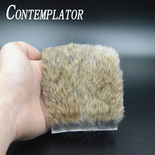 CONTEMPLATOR 2pcs/pack rabbit fur life-like fly fishing animal hairs 8*8cm natural genuine coney for zonker and bunny bugger