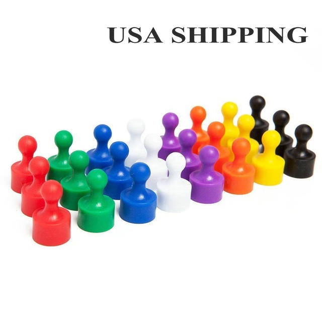 24 Magnetic Push Pins Magnet Useful for Fridge Map Office Whiteboard Magnets Kitchen Photo Fun Classroom Magnet Pawn Game Piece