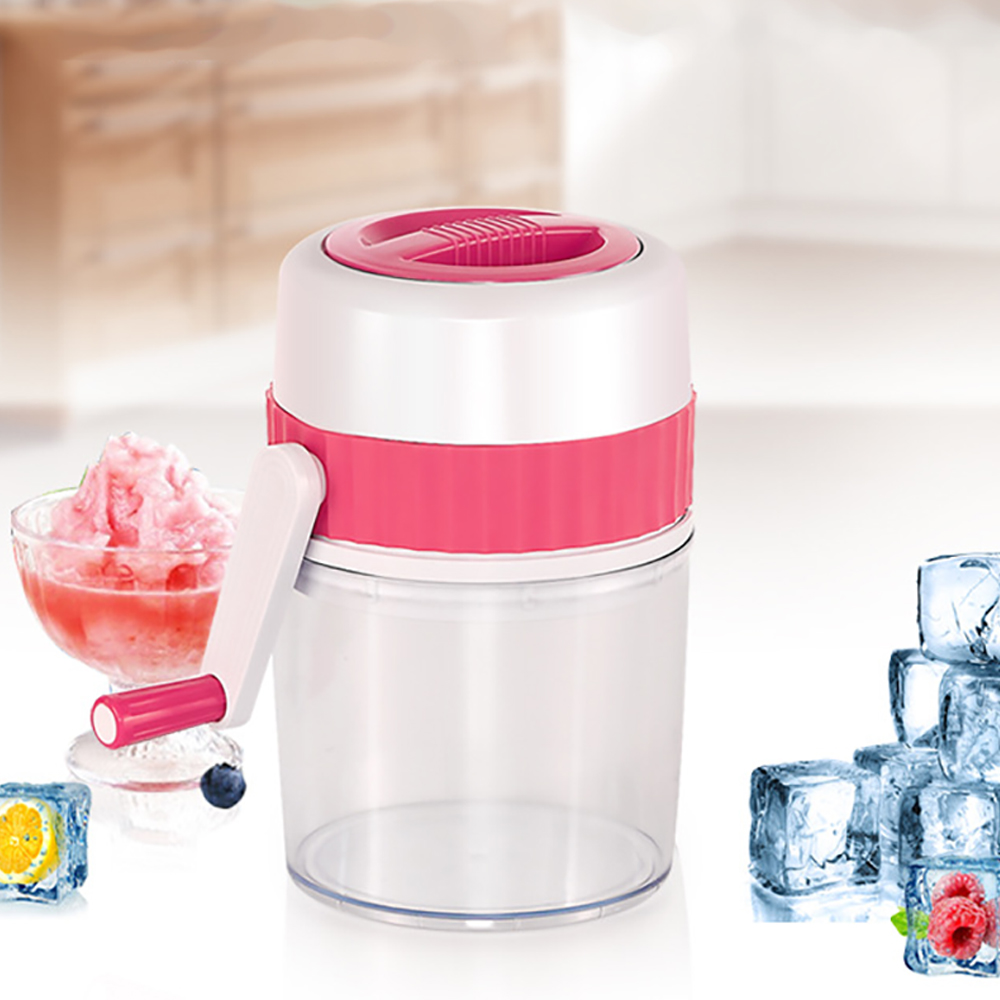 Portable Stainless Steel Household Manual Mini Ice Crusher Hand Shaved Ice Machine For Shaved Ice Snow Cones Slushies