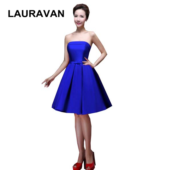 women's princess spring teen formal blue red wear fitted   bridesmaid     dress   ball gown elegant   dresses   for plus size free shipping
