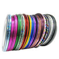 32Pcs Mixed Colors Rolls Striping Tape Line Nail Art Tips Decoration Sticker