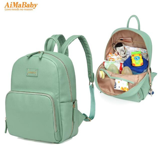 buy pu leather baby bag organizer tote diaper bags mom backpack mother. Black Bedroom Furniture Sets. Home Design Ideas