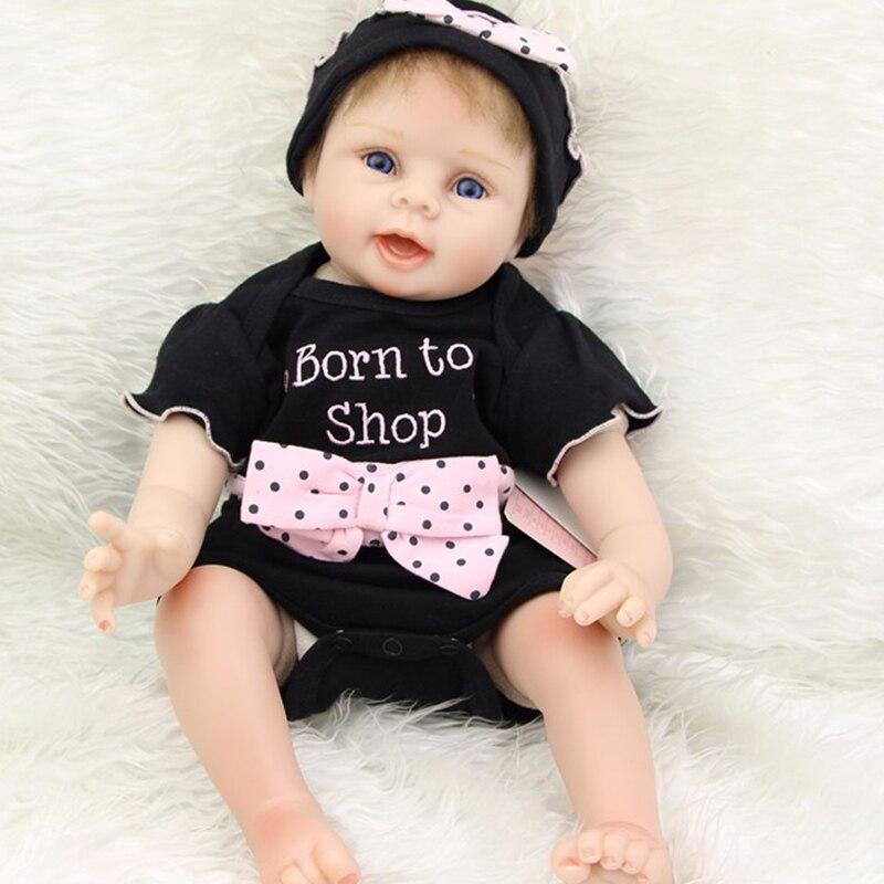 Mohair enraciné 22 pouces réaliste bebes Reborn fille bébé poupées réel réaliste Silicone doux nouveau-né bébés enfants jouer maison jouet