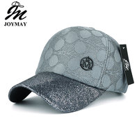 JOYMAY 2017 New Arrival High Quality Fashion Snapback Cap With Shining Visor Metal M For Women