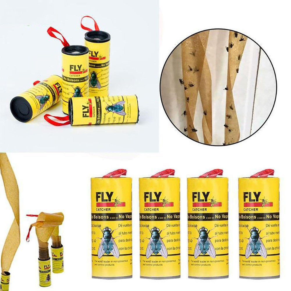 Eliminate Flies 32 Rolls Sticky Fly Paper Insect Bug Glue Paper Catcher Trap catching and killing1.162Eliminate Flies 32 Rolls Sticky Fly Paper Insect Bug Glue Paper Catcher Trap catching and killing1.162