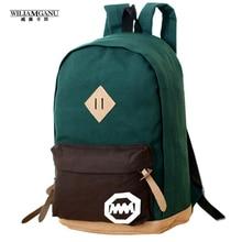 Wiliamganu 2016 frauen rucksack lässig reisetasche mode schultasche [6 farben] leinwand Umhängetaschen Billig Preis Freies Verschiffen