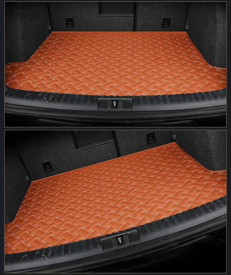 Custom special car trunk mats for Tesla MODEL X MODEL S MODEL 3 waterproof durable cargo boot carpets custom fit car trunk mats for hummer h3 h2 2008 2017 boot liner rear trunk cargo tray floor mats