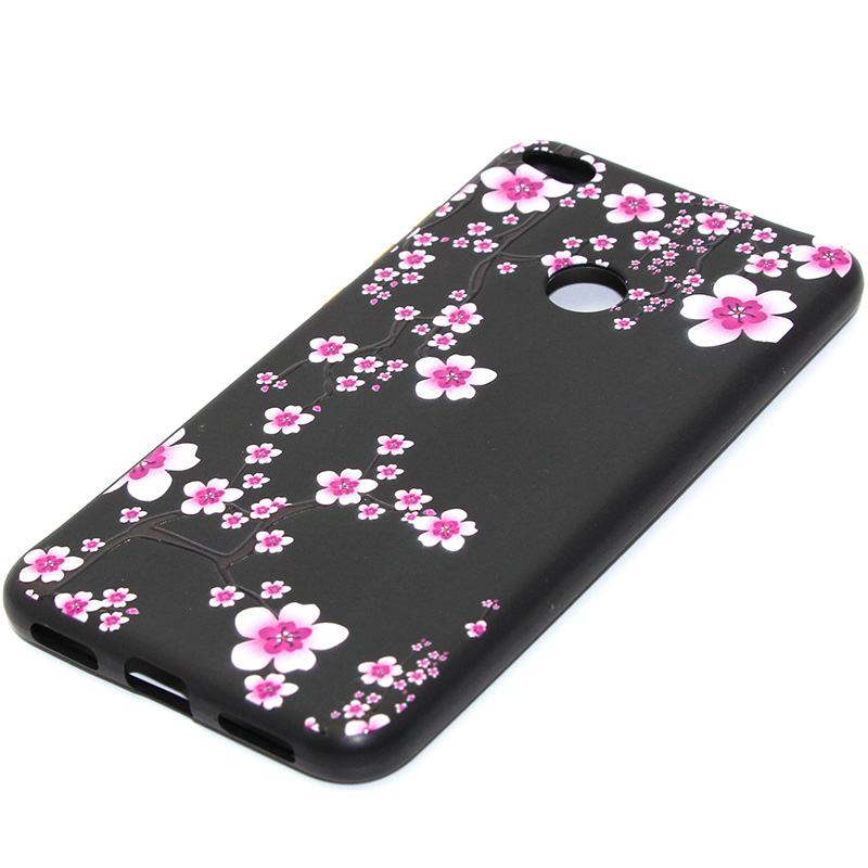 3D Relief flower silicone case huawei p8 lite 2017 honor 8 lite (18)