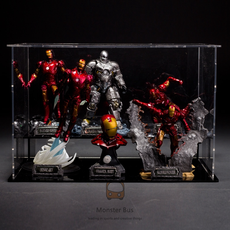 Toys Iron Man Tony Stark 1/20 The Avengers Super Hero Marvel Hot Scale Bust Deluxe Set of 6 with Battle Damaged MK6/3 PVC iron man 3 tony stark mk4 mk42 mk6 light
