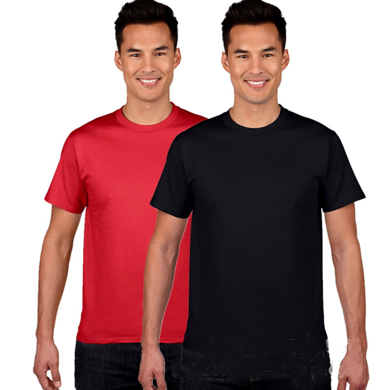 100% Cotton Plain Mens Tshirts Summer Casual O Neck Short Sleeve <font><b>T</b></font>-<font><b>shirt</b></font> Men <font><b>White</b></font> Black <font><b>Blank</b></font> Man Fashion Camisetas Masculina image