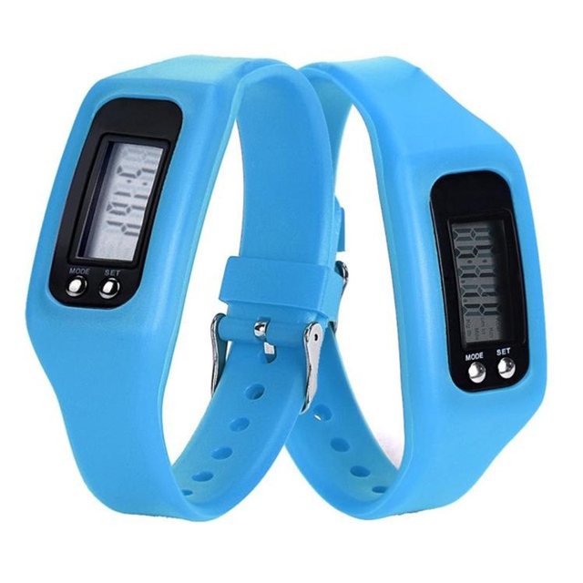 1PCS Lover Silicone Bracelet Watchs Candy Color Digital LCD Pedometer Run Step W