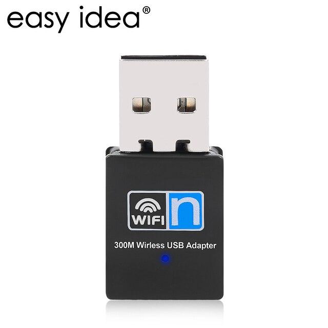 USB WiFi адаптер 300 Мбит Беспроводной LAN сетевой карты мини внешнего Wi-Fi 802.11 B/G/N Wi-Fi приемник 2.4 г Adaptador