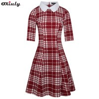 Oxiuly-Black-and-White-Plaid-Houndstooth-A-Line-Dress-Turn-Down-Collar-Short-Sleeve-Dress-Autumn.jpg_200x200