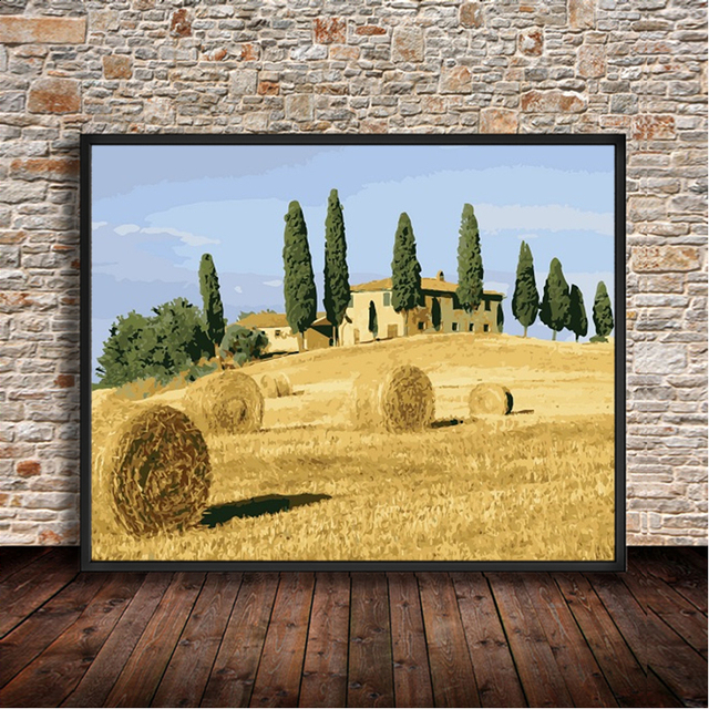 Number Digital Canvas DIY Farm Digital Paint Wall Picture Print ...