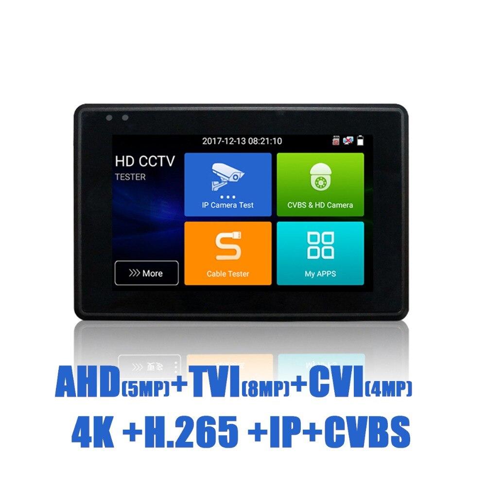 IPC1800plus 1080 p 5-EN-1 TVI AHD CVI Analogique IP CCTV Caméra Testeur Construction dans la Batterie de Sécurité testeur Moniteur Vidéo Audio Test PTZ