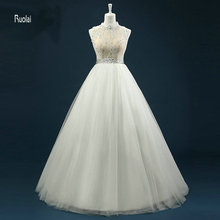 Ruolai Ball Gown Floor Length Wedding Dresses Bridal Gown