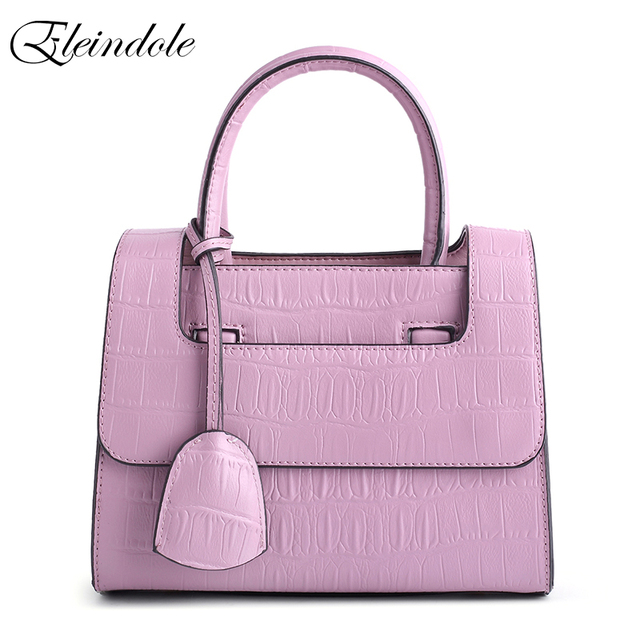 Eleindole Brand New Women Shoulder Bags Genuine Leather Crocodile Texture Ladies Handbags Cross Body Solid Women Shoulder Bag