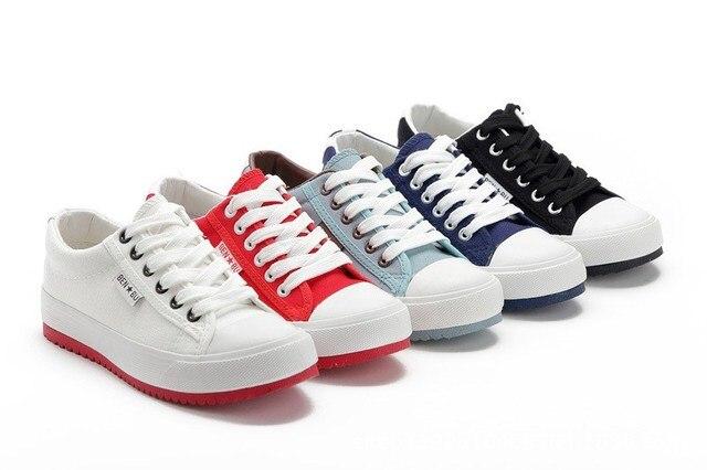 Shoes Woman Sailcloth Women Shoes Sports Classic Flat Sneaker Canvas Shoes Low Flat Skateboarding Shoes Schoolgirl sneakers