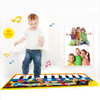 New Cartoon Animals Piano Blanket Toy Fantastic Piano Keyboard Music Blanket Kids Learn Singing Educational Toys