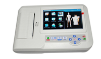 Professional 6 Channel ECG / EKG Machine with Printer and Paper and USB Software 600G, CE and FDA approved Free shipping