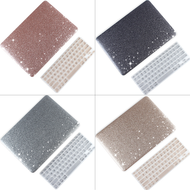 Case For MacBook Pro Retina Air 11 12 13 15 Glitter Bling Hard Laptop Cover For 2018 Macbook New Pro 13 15