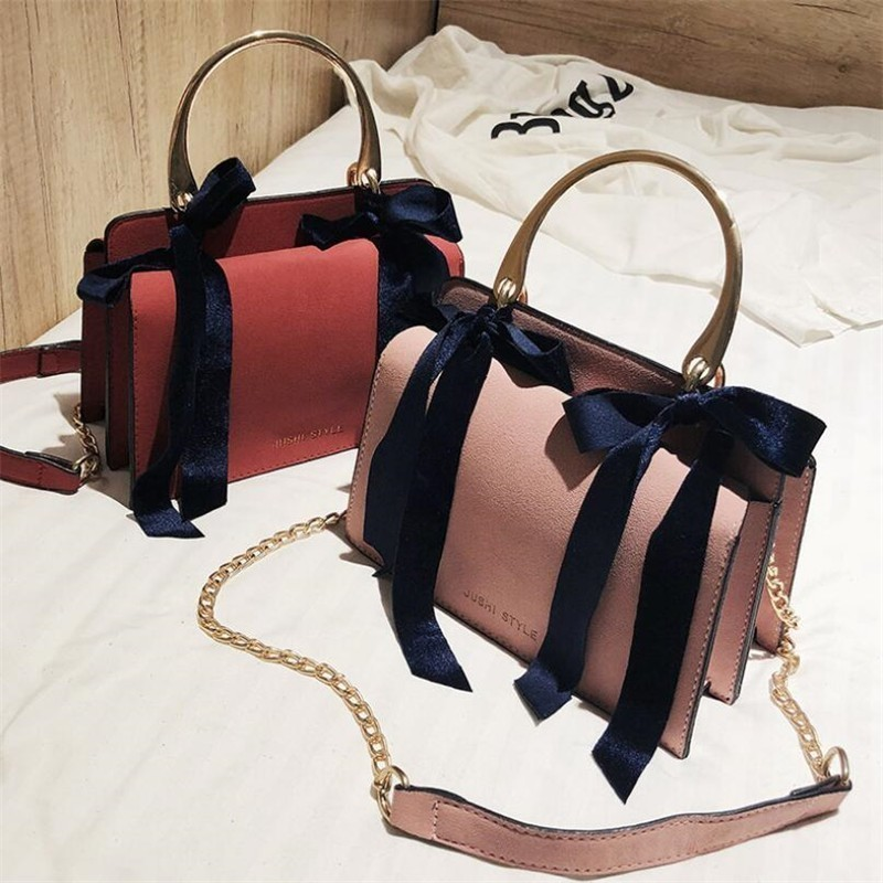 3ea753f30bf US $15.05  Aliexpress.com : Buy Women Handbag 2018 Hot Sale Simple Fashion  Solid Bow Knot Organ Bag Pu Leather Girl Casual Shoulder Crossbody Top ...
