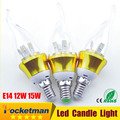 1 шт. Светодиодные Свечи лампы E14 220 В 15 Вт 3 Вт 6 Вт 9 Вт 12 Вт Epistar чип SMD5730 Теплый/Холодный Белый Светодиодные лампы E14 бесплатная sgipping
